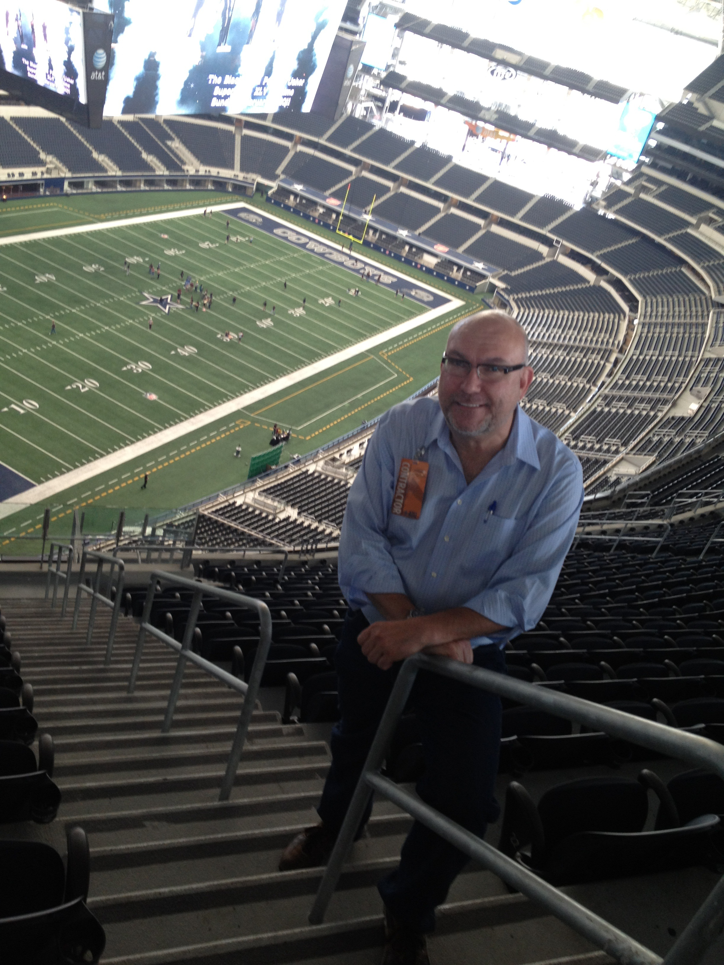 Ted Leamy - upper deck seating @ cowboys stadium